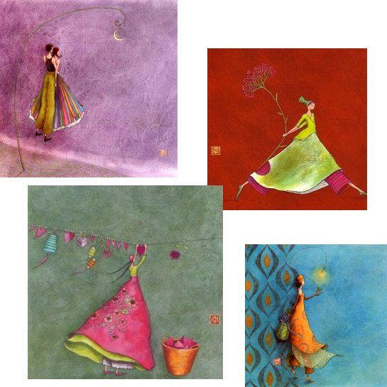 Populaire La peinture de Gaëlle Boissonnard déclinée sur cartes, sacs  IB07