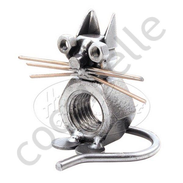 Figurine sculpture m tallique hinz kunst objet d coratif for Objet deco animaux