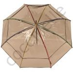 MAROQUINERIE Parapluies Cloche transparent bords multicolores