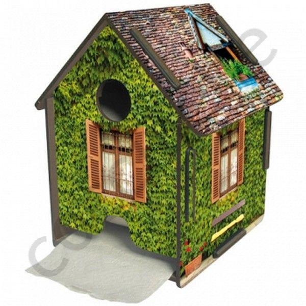 pour la maison devidoire de papier wc original en bois et en forme de cabane. Black Bedroom Furniture Sets. Home Design Ideas